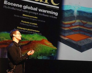 Here is a picture from a talk I gave in 2006 to 1100 people during the NFR Fremragende aften in Oslo Concert House.