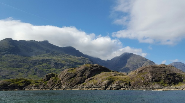 View of the Cuillin intrusive complex, Isle of Skye.